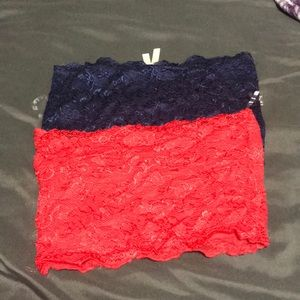 Other - Lace Tube Tops/ Bandeaus